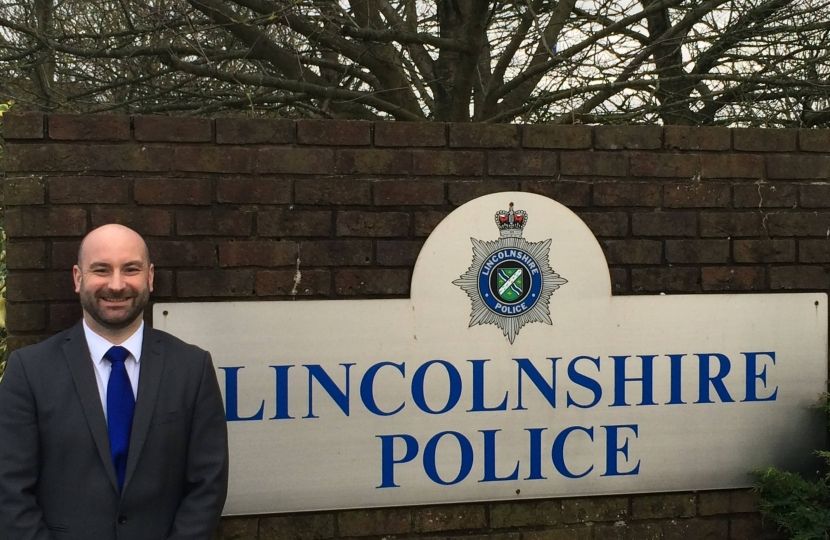 Marc Jones at Lincolnshire Police Headquarters
